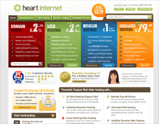 Heart Internet domain and hosting